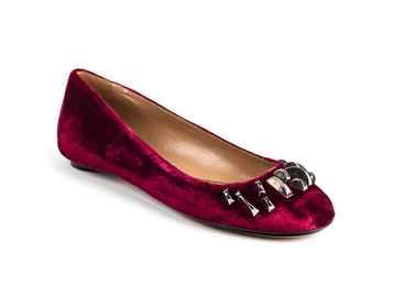 Peggy Flat in Red Velvet