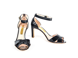 Jillian Black Patent 80 Sandal